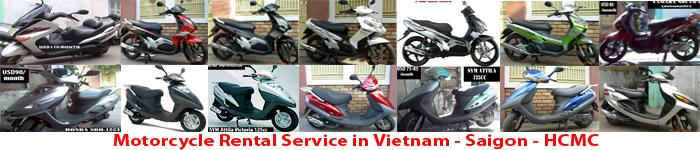 motorcycle, motorbike, scooter for rental.